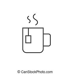 Cup of tea outline icon