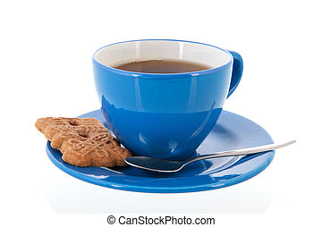 Cup of tea with cookie