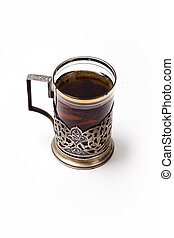 Cup of tea with glass-holder