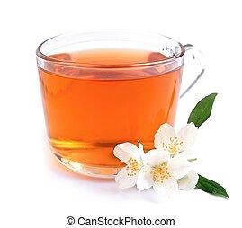 Cup of tea with jasmine