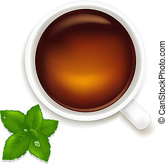 Cup Of Tea With Mint