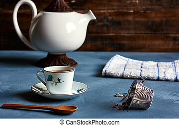 cup of tea with props