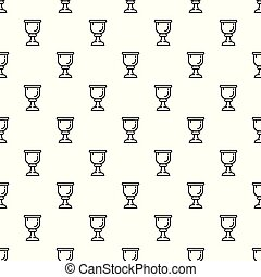 Cup of wine pattern seamless vector repeat for any web...