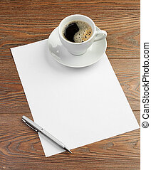 cup on white blank