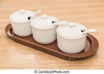 cup or bowl of seasoning