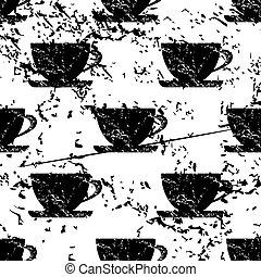 Cup pattern grunge, monochrome