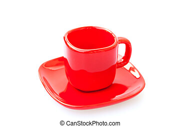 cup red isolated on white