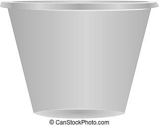 cup-shaped, medicação, recipiente, plástico
