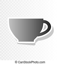 Cup sign. Vector. New year blackish icon on transparent background with transition.