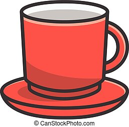 Cup vector cartoon illustration
