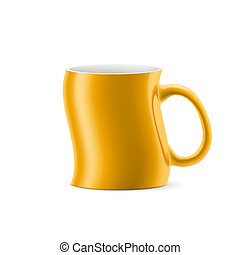 Cup - Curve  a cup with something is on white background