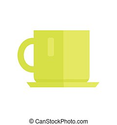 Cup Vector Illustration in Flat Style Design.
