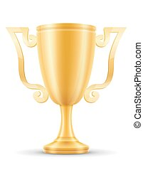 cup winner gold stock vector illustration
