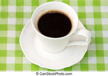 Cup with a black coffee