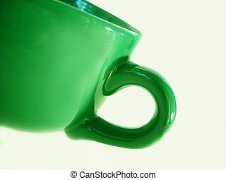 cup with a green tint