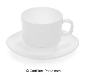 Cup with a saucer close up