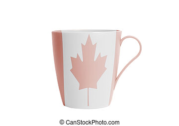 Cup with Canada flag