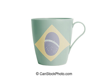 Cup with Flag of Brazil
