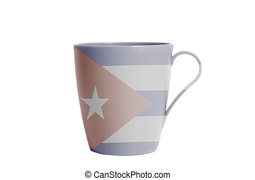 Cup with Flag of Cuba