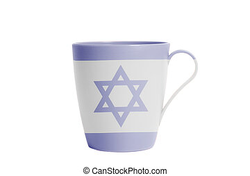 Cup with Flag of Israel