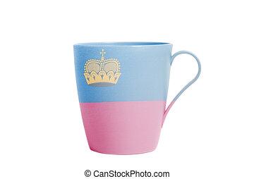 Cup with Flag of Liechtenstein