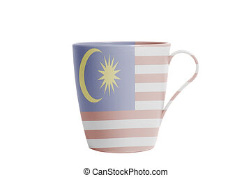 Cup with flag of Malaysia
