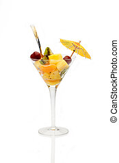 Cup With Fruit Salad Isolated