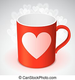 Cup with Heart Symbol