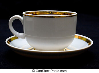 Cup with hot drink