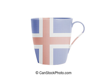 Cup with Iceland Flag