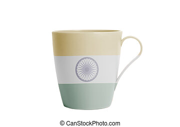 Cup with Indian flag
