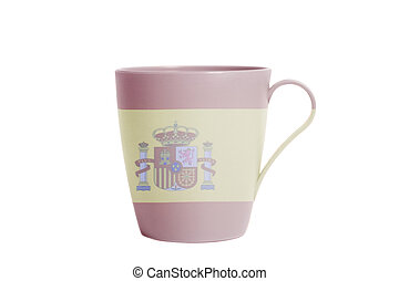 Cup with Spain Flag