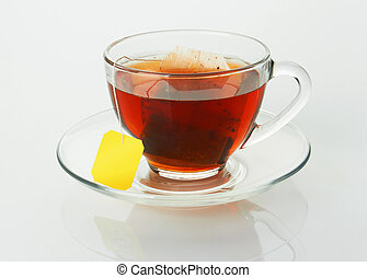 Cup with tea and teabag