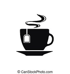 Cup with tea bag symbol icon vector illustration
