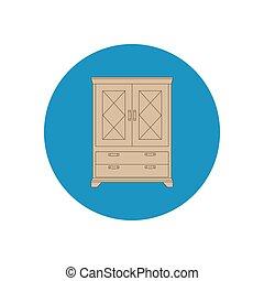 Cupboard cabinet illustration