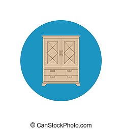 Cupboard cabinet illustration