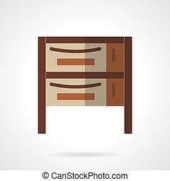 Cupboard flat color design vector icon