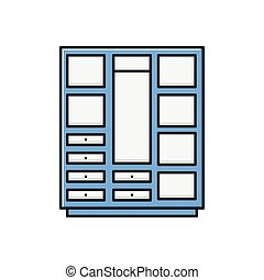 cupboard  flat color icon