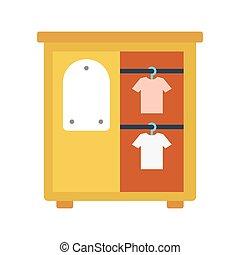 cupboard flat icon