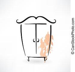 cupboard grunge icon