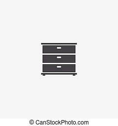 cupboard icon, on white background.