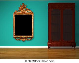 Cupboard in minimalist interior
