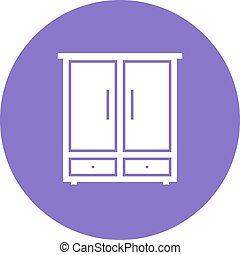 Cupboard - Shelf, cabinet, cupboard icon vector image. Can ...