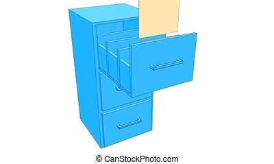 Cupboard - Retractable shelf of the closet in which folded...