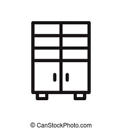 cupboard thin line icon
