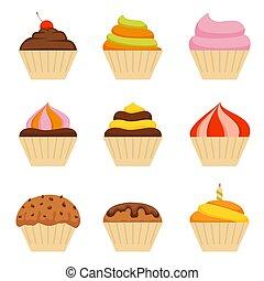 cupcake, アイコン