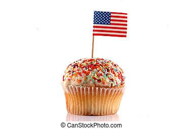 cupcake, アメリカの旗