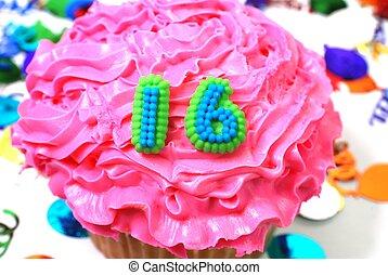 cupcake, -, 数, 祝福, 16