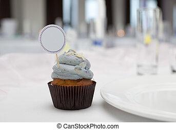 cupcake, 由于, 安置卡片