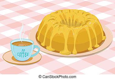 cupcake and a mug of coffee